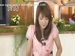 Japanese babe is getting a hard cock in her mouth and pussy