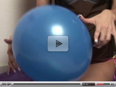 Horny Chick Having Fun With Her Balloon