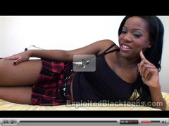 Cute College Black Girl takes it in the Ass hard