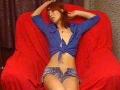 Petite Redhead Shows how Tight her Pussy is HD