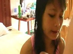 Asian cutie fucked with toys and stuff