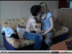 Young amateur couple sex tape