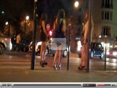 Four Girls Miniskirt Shoes Taxi