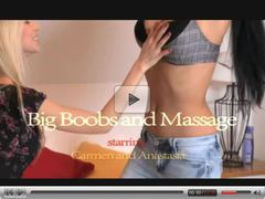ORGASMS Big boobs lesbian massage