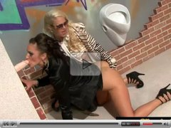 Horny girls experiencing the glory hole