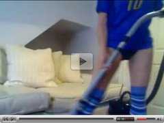 Italian Girl Masterbates with a Vacuum cleaner!