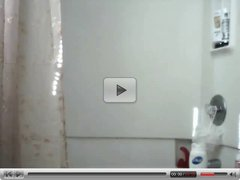 Excited Horny Slut Films Herself In The Shower