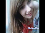 Horny teen masturbates alone in her her room on webcam chat adult