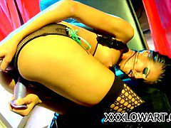 Horny babe Sea J Raw fingering and toying her pussy to the