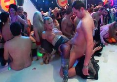 Wet club orgy with drunk and horny sluts