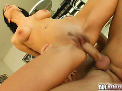 Two cuties get their asses fucked by a couple horny guys.