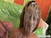 Hot Blonde Pornstar Gets Glazed With Lots Of Cum
