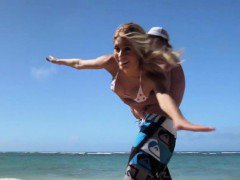 Badass babes try out surfing and segway that they enjoyed