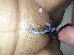 Cumming on my wife's pussy.