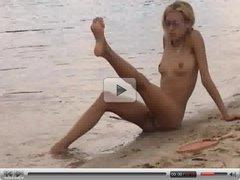 Beach video - nude girl