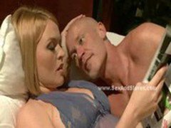 Husband catches blonde wife fucking