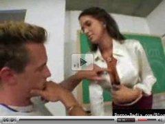 Hot milf seduces student