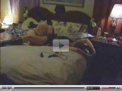 Hidden cam caught my old mom having lesbian sex