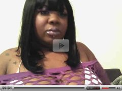 Black BBW plays for camera