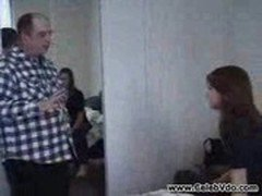 Unsuspecting Teen Girl caught by the Dirty Old man