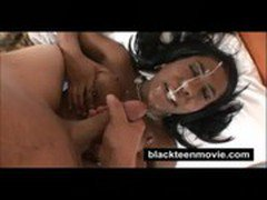 Big tits black teen banged out