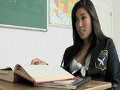 Asian school girl teen fucks her teacher after class