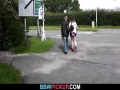 Curly BBW seduced by a stranger