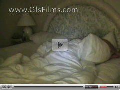 Waking up her boyfriend with a wet blowjob