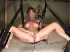 Wife Plays in Sex Chair